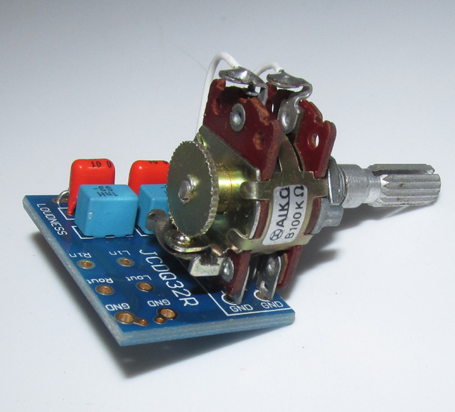 Japan AIKO 100K Equal Loudness Volume Control Dual Potentiometer Adapter Board Increase high frequency and low frequency