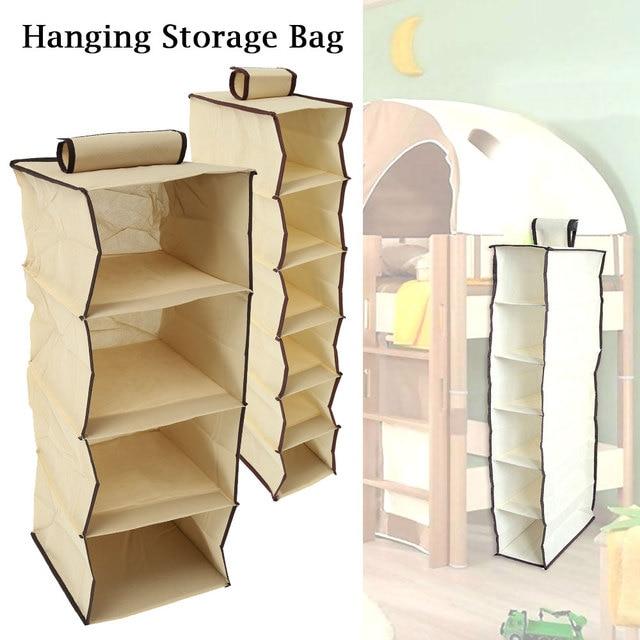 Wardrobe Hanging Storage Bag shoe toy Clothes Hangers Holder Portable Closet Organizer home