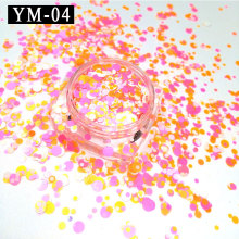 YM-04-1 Box Mixed Colors 1mm 2mm 3mm Yellow Pink White Nail Art Glitter Sequins Set Colorized Round DIY Decora