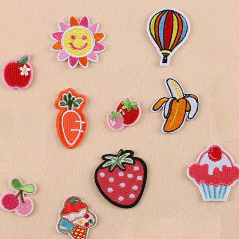 Apple Aardbei Ijzer Op Patch Geborduurde Kleding Patch Voor Kleding Vrouw Meisje Kleding Stickers Kleding Kledingstuk Accessoires