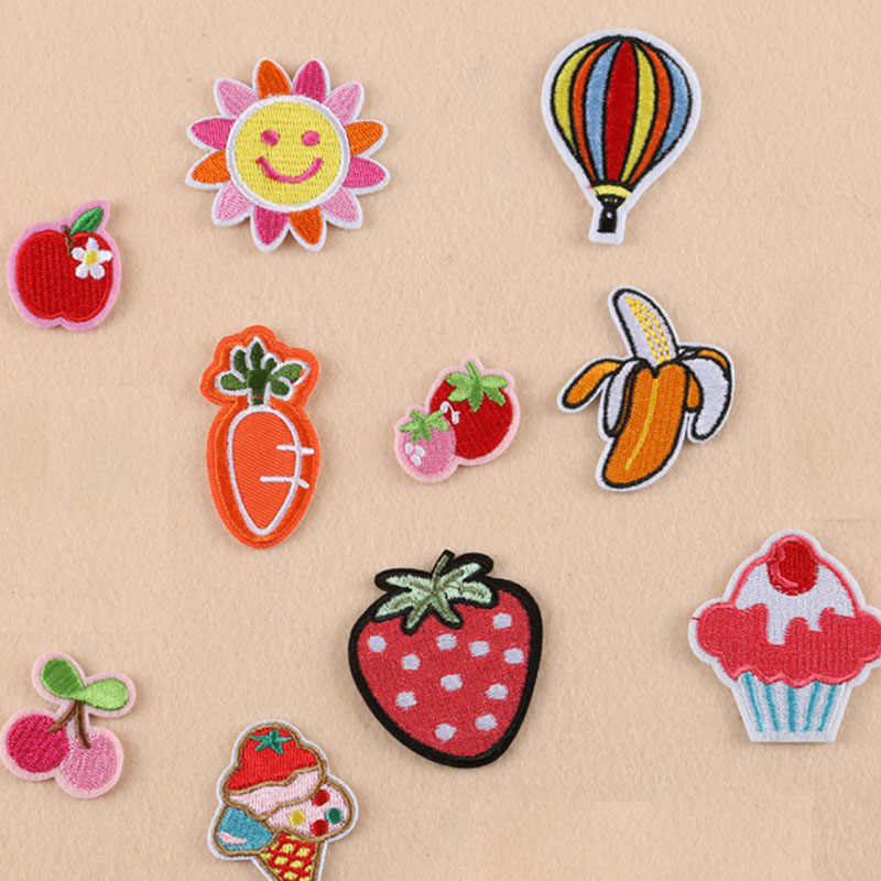 Strawberry iron on patch in 2019 | embroidery patches, iron on.