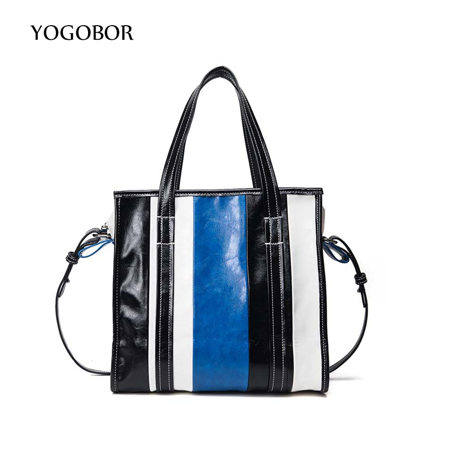 New design fashion stripe stitching color casual shopping bag totes ladies handbag shoulder bag crossbody messenger bag pouch new arrival fashion color stitching simple silver buckle casual chain handbag women s shoulder bag across body messenger totes