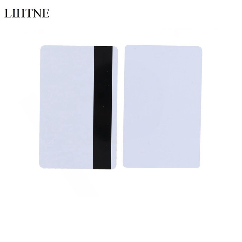 10PCS/lot Magnetic Stripe Card 2750 OE Hi-Co 3 Track Blank PVC Magnetic Card 200pcs track 1 2 and 3 magnetic stripe blank card for school library management access control