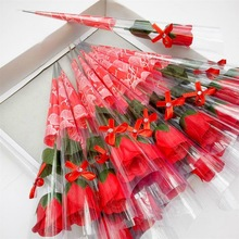 50pcs Romantic Artificial Rose Flowers Valentines Day Wedding Decoration Soap Novelty Teachers Gift