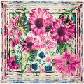 90x90 primavera Girassol e Crisântemo Floral Impresso lenço quadrado Lenços de cetim de seda das mulheres 2017 do sexo feminino, xales, estolas A326