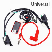 Wiring Harness Motorcycle Racing Ignition Coil CDI Kill Switch Kit for 70cc 90cc 110cc 125cc 140cc 150cc Pit Dirt Bike Motorcycl
