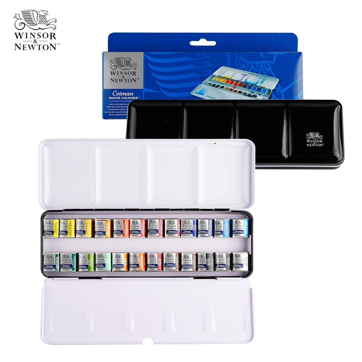 где купить 12/12/24 Colors Professional Solid Watercolor Painting Set Half Pans Pigment Set Painting Suit For Drawing Artist Art Supplies дешево