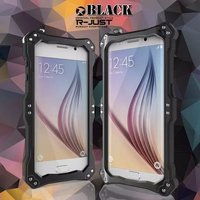 R-JUST Gundam armor zware Vuil schokbestendig Metal Aluminium mobiele telefoon case Voor samsung galaxy s6 s6 rand