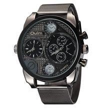 Diseño de marca de lujo oulm relojes de los hombres de acero lleno de cuarzo-reloj antiguo hombre casual reloj militar relojes hombre 2017