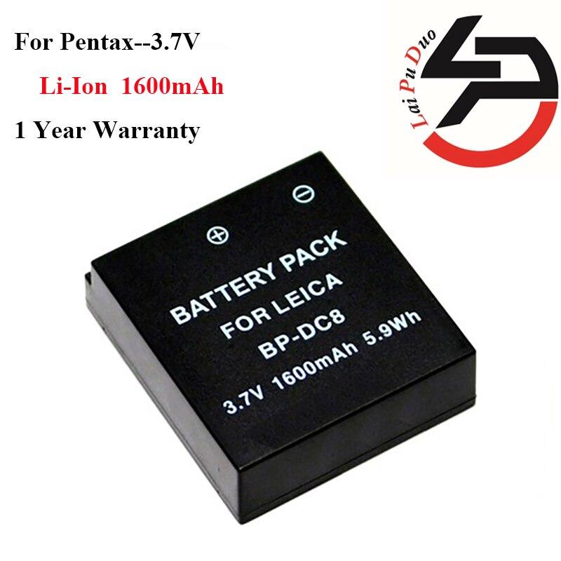 Haute Qualité 1600 mAh Marque Nouvelle Batterie De Remplacement pour Leica X Vario, X1, X2 Caméra BP-DC8 BPDC8 BP-DC08 18706