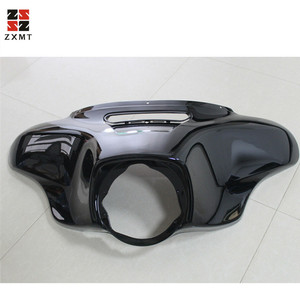 Image 1 - ZXMT Motorcycle Head light Mask Headlight Fairing Front Cowl Fork Mount For Harley Harley Touring Glide Ultra Limited 2014 2018