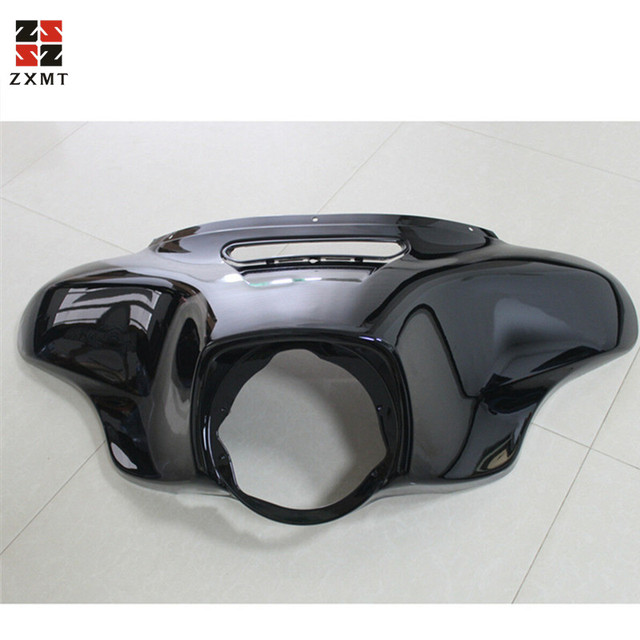 ZXMT Motorcycle Head light Mask Headlight Fairing Front Cowl Fork Mount For Harley Harley Touring Glide Ultra Limited 2014 2018