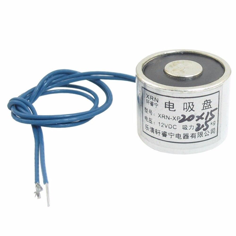 XRN-XP20/15 Sucked Electric Lifting Magnet Electromagnet 12VDC DC24V 2.5Kg 5.5LB 20x15mm