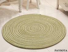 PAYSOTA Rope Woven Carpet Computer Cushion Circular Living Room Bedroom Environmental Protection Rug