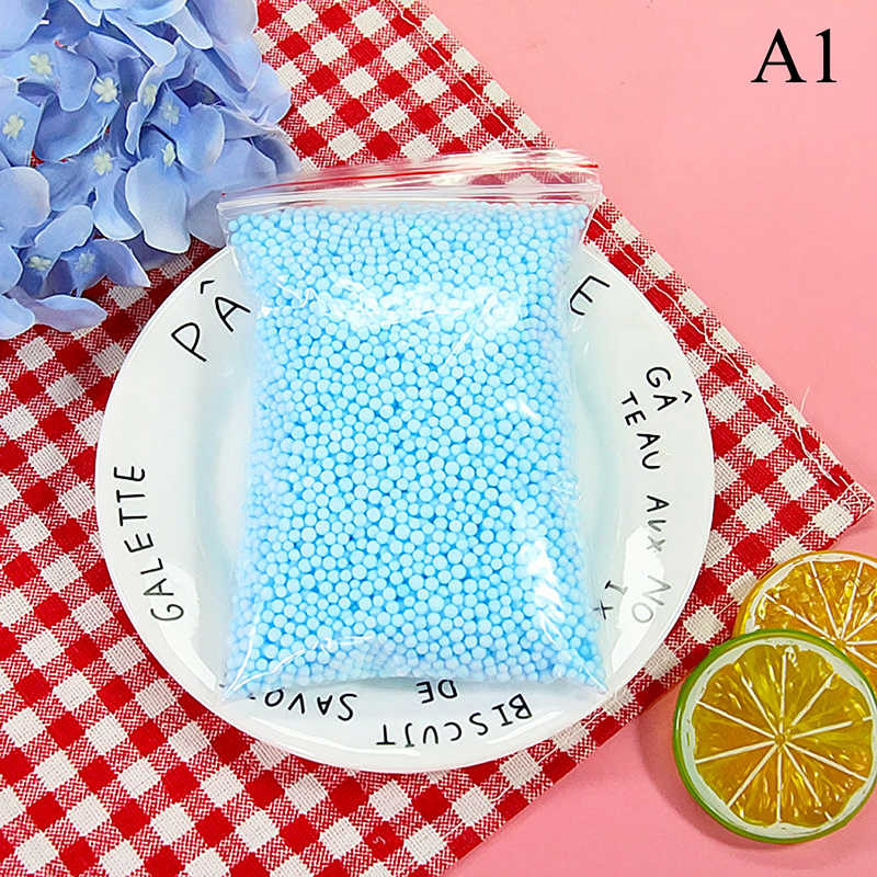 One Pack Snow Mud Particles Accessories Slime Balls Small Foam Beads For Foam Filler For DIY Craft Supplies