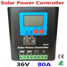 цена на 36V 80A Solar Controller PV panel Battery Charge Controller 36V Solar system Home indoor use,PV Dual Input,LCD Display