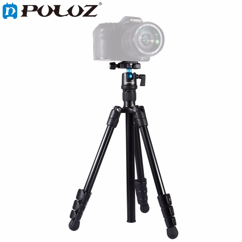 PULUZ Photography Tripod holder 4-Section Folding Legs Tripod Monopod Mount with 360' Ball Head For DSLR & Digital Cameras