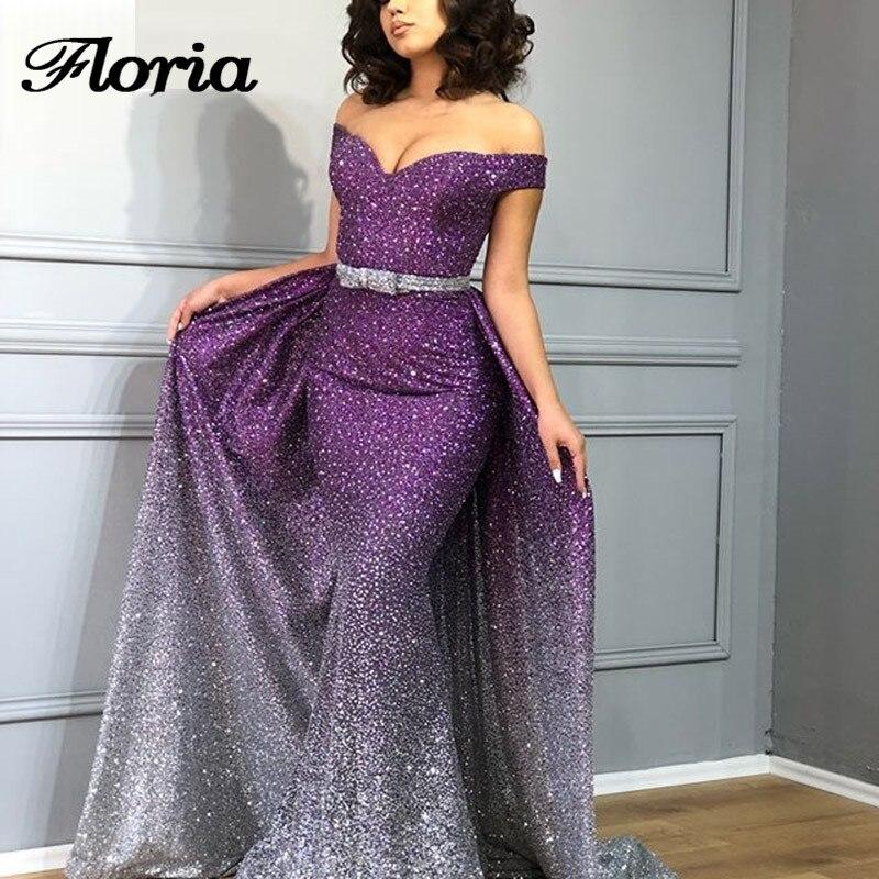 Arabe Couture Nouvelles Robes de Soirée 2018 Aibye Mode Musulmane Robe de Bal Robe de soirée Turque Hors Épaule Robes de Soirée