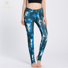 Hiya Anthena Ladies's Absolute Exercise Leggings Printed Polyester/Spandex Stirrup Pants Sports activities Yoga Health Working Jogging Health club