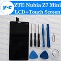 Zte nubia z7 mini display lcd 100% original + tela de toque Painel da tela de Substituição Assembleia Para Z7 mini NX507J Telefone Navio Livre
