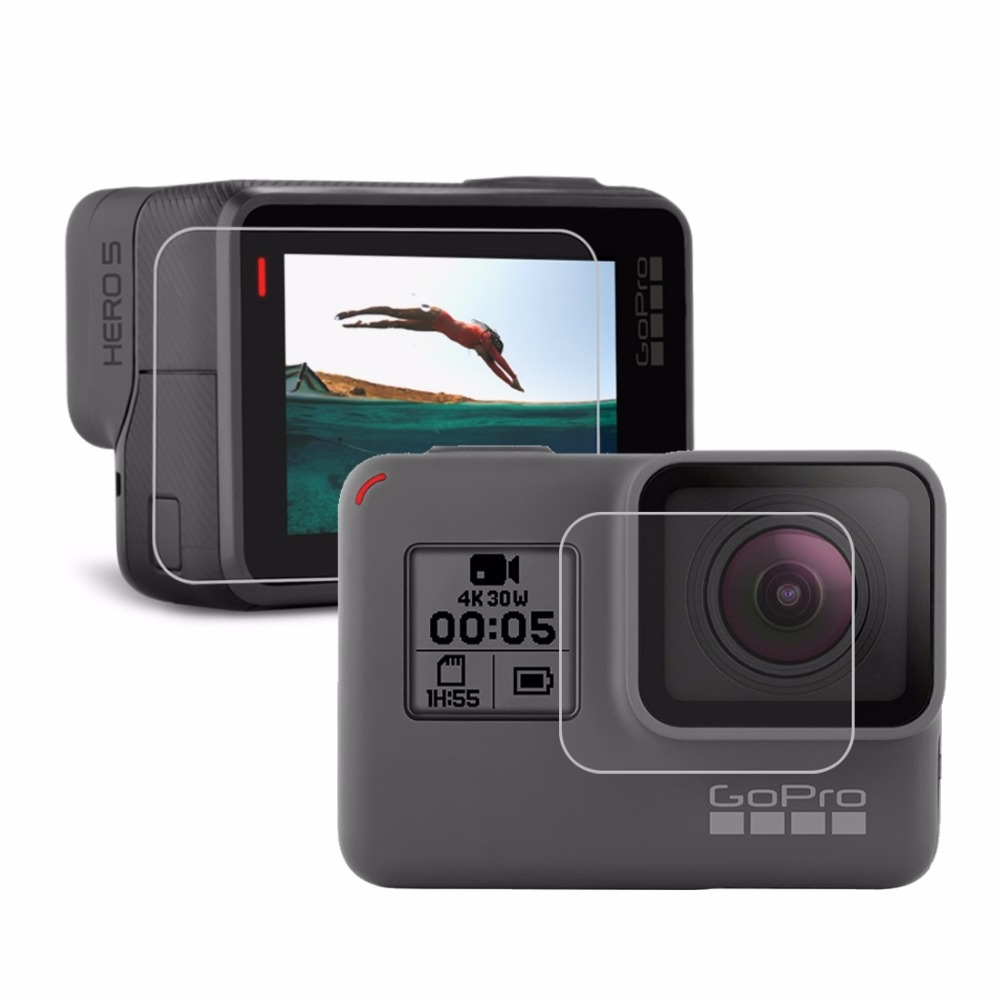 For GoPro HERO5 Camera Lens Protective Film + LCD Dispaly Screen Protector