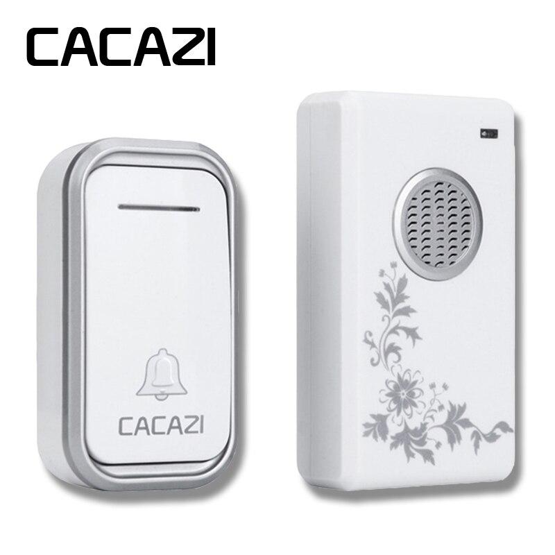 CACAZI High Quality home DoorBell AC 110-220V Waterproof 200m remote Mini Wireless Door bell 38 Rings 3 volume door chime