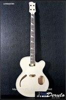 DIY Electric Guitar Kit Set In Neck Hollowbody Flamed Maple Veneer MX 102
