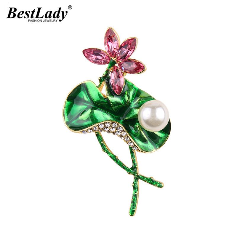 Best lady Vintage Chinese Style Wedding Simulated Pearl Brooch Clips Pins Up Statement Scarf Flower Buckle Maxi Brooches Jewelry