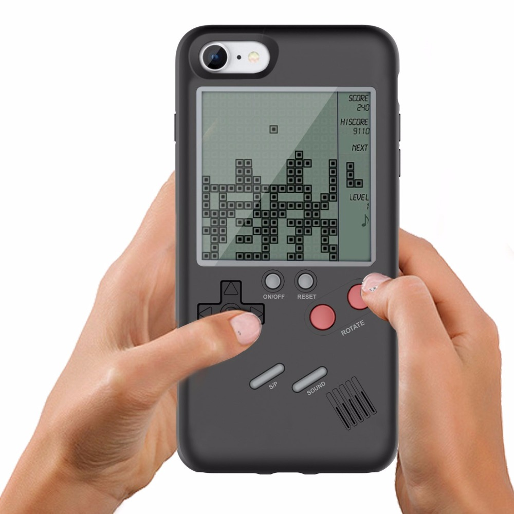 VBNM Classic Tetris Game Phone Case Cover for iPhone X 7 8 6 6s 8 Plus Phone Protective Case TPU Shell for iPhone 7 Plus 8Plus