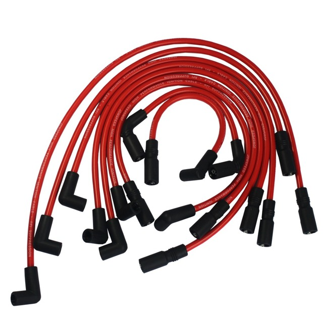 FREE SHIPPING 105MM RED Spark Plug Wires For GMC JIMMY SONOMA