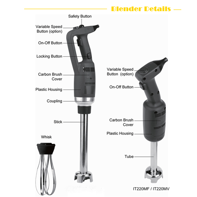 Black Blender with Stepless Adjustment