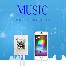 цена на RGB Bluetooth Led Controller For Led Strip Light DC 5V 12V-24V RGB APP Controller IR Remote Control Music Bluetooth Controller