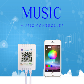 RGB Bluetooth Led Controller For Led Strip Light DC 5V 12V-24V RGB APP Controller IR Remote Control Music Bluetooth Controller 12v 24v relay harness control cable for h4 hi lo hid bulbs wiring controller