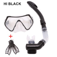 Adult Long Diving Fins sets Anti Fog Mask Goggles Full Dry Snorkel Diver Breathing Scuba Diving Duck feet fins