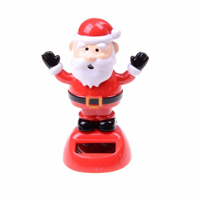 2018 Solar Powered Shaking Toy Christmas Toy Santa Claus For