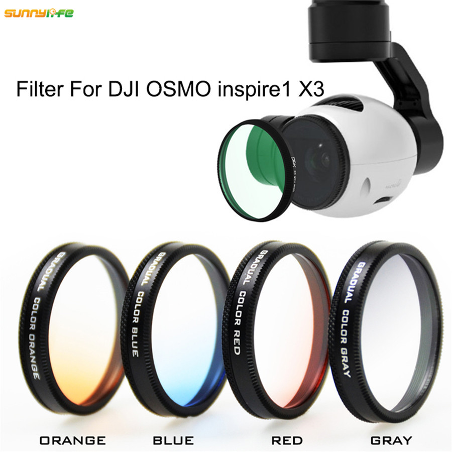 PGY Red Graduated Filter Color Camera Lens for DJI OSMO /& Inspire