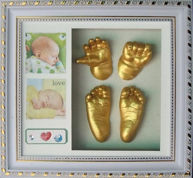 Safe Diy Baby Handprint Footprint Shadow Box Photo Frame With