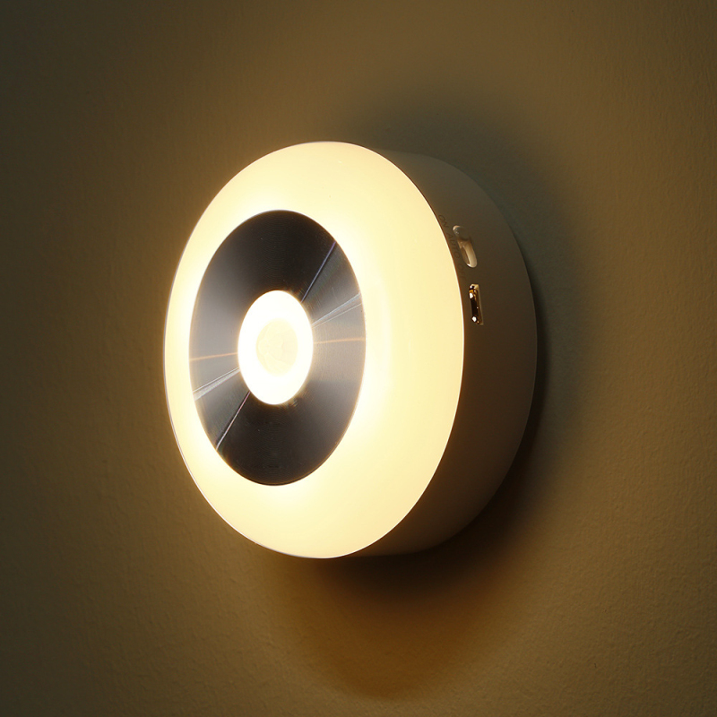 Intelligent induction night lamp infrared human light control corridor creative cabinet night lights