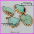 Free ship ! 5pcs Fashion Natural chrysoprase semi stone pendant gem stone jewelrys pendants necklace DIY
