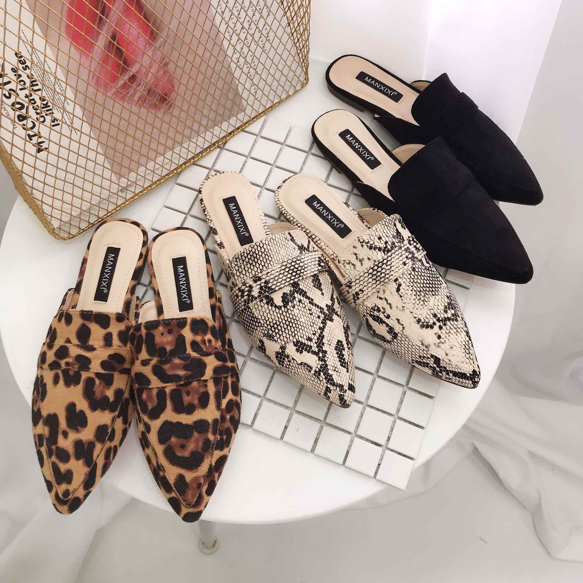 New Fashion Pointed Toe Women Mules