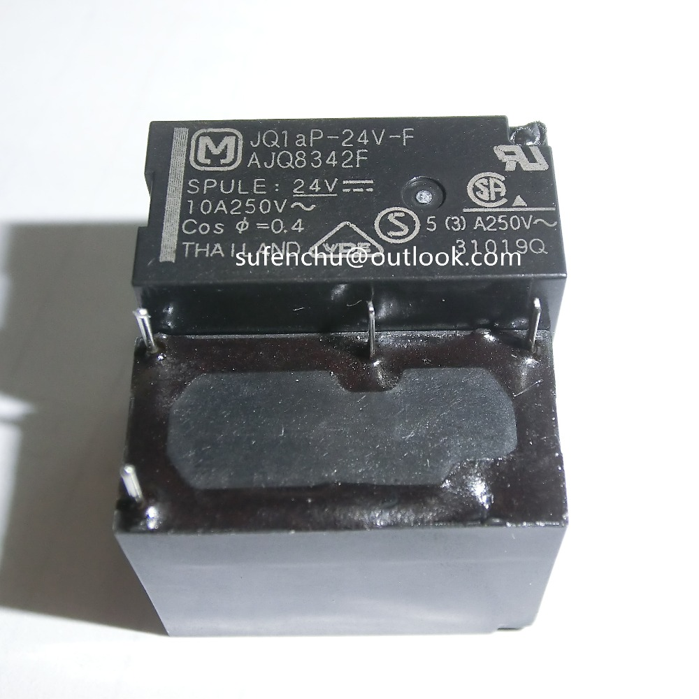 10Pcs JQ1AP-<font><b>24V</b></font>-F AJQ8342F 100% brand new original authentic Relays JQ1AP 10A <font><b>5A</b></font> 250V AC <font><b>4Pin</b></font> 24VDC image
