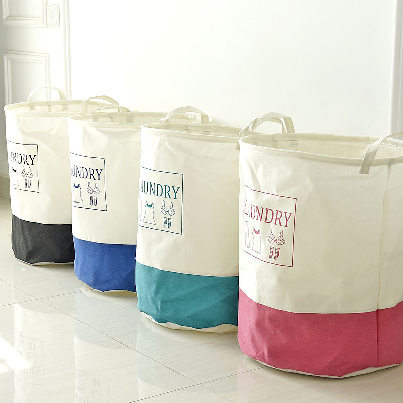 ღ ღTelas Lino cestas de almacenamiento cajas grandes cesta ...