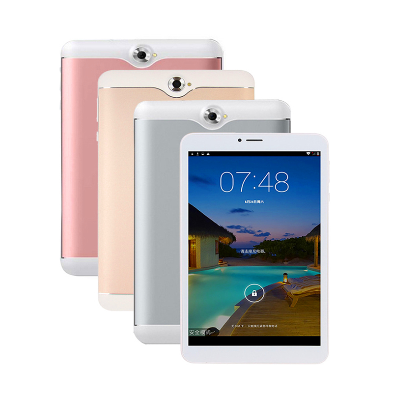 8 Inch 3G Phone Call Tablet Android 4.4 Quad Core MTK6582  WiFi Bluetooth GPS 1280*800 Capacitive Screen 2MP Camera Tablet PC
