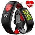 Kühle Mens Armband Smart Uhr Männer Frauen Schrittzähler Herz Rate Monitor Blutdruck OLED Touch Run Sport Uhr Smart Handgelenk band-in Digitale Uhren aus Uhren bei