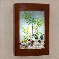 Любовь Домашний зал прикроватная тумбочка для спальни Кофе Цвет белый деревянный настенный светильник деревянный столовая