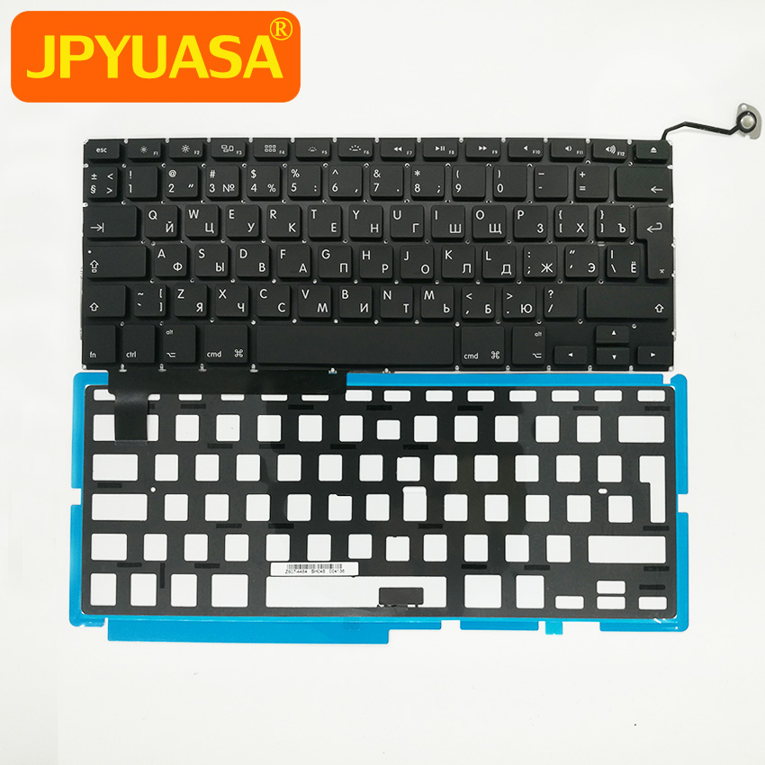 New RU Russian keyboard Replacement with Backlight Backlit For MacBook Pro 15.4 A1286 2009-2012 Years