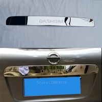 Without Hole Stainless Steel Car Rear Trunk Tail Licence Plate Trim Cover Strip Fit For Nissan Qashqai 2007 2011 2012 2013