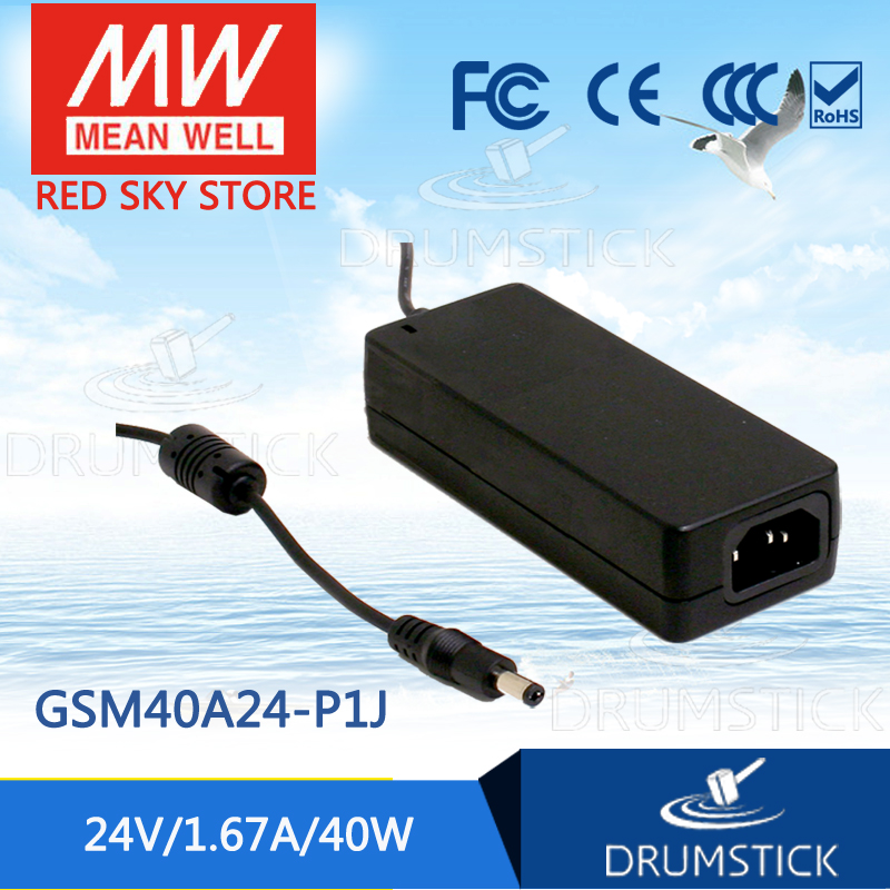 Hot sale MEAN WELL GSM40A24-P1J 24V 1.67A meanwell GSM40A 24V 40W AC-DC High Reliability Medical Adaptor [mean well] original gsm60b05 p1j 5v 6a meanwell gsm60b 5v 30w ac dc high reliability medical adaptor