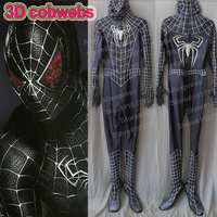 Linglong High Quality Custom Made Newest Black Raimi Spiderman Suit 3D Printing 3D Cobwebs Embossed Spider
