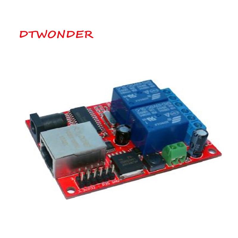 GemäßIgt Dtwonder Access Control Relais Boards Modul Tcp Udp 2way 8 Kanal Lan Ethernet Web Server Verzögerung Schalter Dt-201 GüNstige VerkäUfe